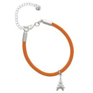 Eiffel Tower Charm on an Orange Malibu Charm Bracelet Jewelry