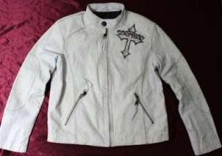 Affliction LIve Fast Mens Leather biker Jacket (L)