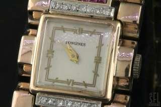 LONGINES HEAVY ANTIQUE 18K ROSE GOLD .64CTW DIAMOND/RUBY ART DECO