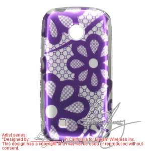 Purple Lace Hard Case Cover for LG Cosmos Touch VN270