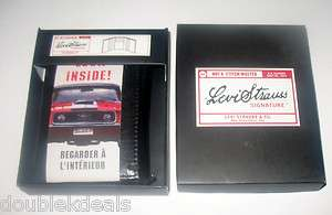 NEW MENS LEVI STRAUSS BLACK LEATHER WALLET FORD MUSTANG