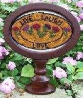 LIVE LAUGH LOVE PUNCHNEEDLE PATTERN MYRTLE GRACE MOTIFS