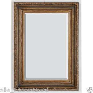 Large Floor Mirror 7 Tall  Ribbed Antique Gold Frame