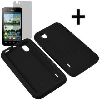 Silicone Soft Sleeve Gel Skin Cover Case For Sprint LG Marquee + LCD