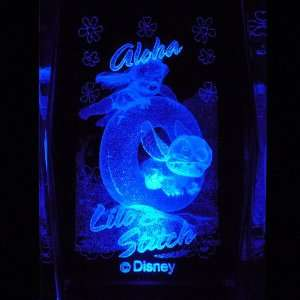 Lilo and Stitch 3D Laser Etched Crystal includes Two Separate LEDs