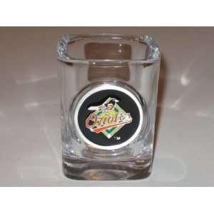 BALTIMORE ORIOLES Team Logo SHOT GLASS with Pewter Logo