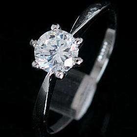 White 18KGP Swarovski Crystal Ring  230282