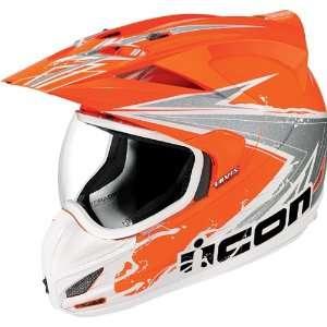 Icon Variant Dual Sport Motorcycle Helmet Salvo Hi Viz