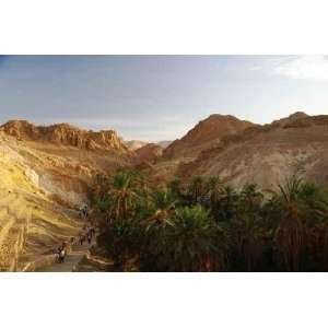 Lever De Soleil Sur Loasis, Chebika, Tunisie   Peel and