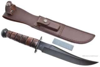 Jet Pilot Combat/Survival Bowie Knife Fighting/Tactical Leather Sheath