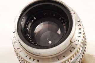 KODAK EKTRA RF 50MM f/1.9 LENS/CAPS/METAL CASE NICE