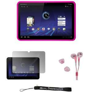 Hot Pink   Soft Rubber Gel Silicone Skin Cover Case for Motorola XOOM