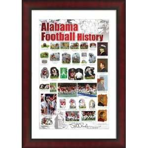 Alabama Football History Framed Crimson Tide Poster