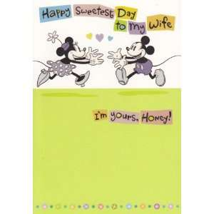 Greeting Card Sweetest Day Mickey Mouse Happy Sweetest Day to My Wife