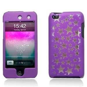 Purple/ Silver Stars Light Laser Cut Faceplate Hard