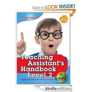 Teaching Assistants Handbook for Level 2: Teena Kamen: