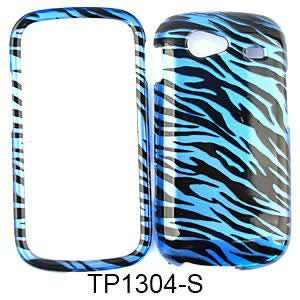 Blue Zebra Stripes Pattern Snap on Cover Faceplate for Samsung Nexus S