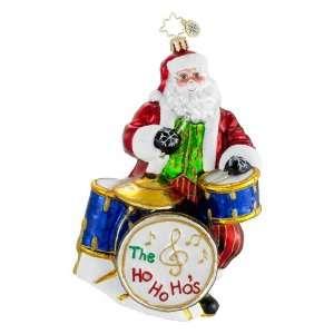 RADKO STICKS NICK Santa Drummer Musician Glass Christmas