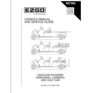 Manual for Gas Cargo Personnel Carrier/Golf Car Patio, Lawn & Garden