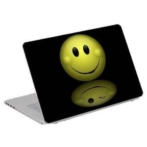 Art Decal (Computer Skin) Trim to Fit 13.3 14 15.6 Laptops   Smiley