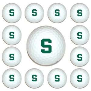 Michigan State Spartans Team Logo Golf Ball Dozen Pack   Golf