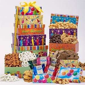 Happy Birthday Tower of Sweets Mothers Day Gift Womens Day