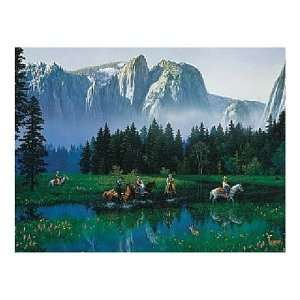 American Puzzle Factory Yosemite 550 Piece Jigsaw Puzzle Toys & Games