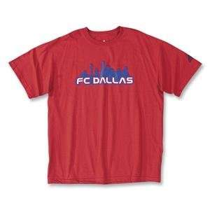 adidas FC Dallas Skyline T Shirt Sports & Outdoors