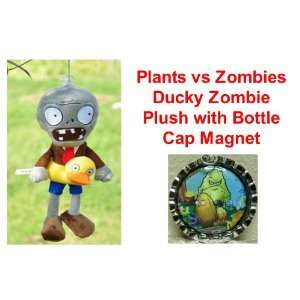 vs Zombies 7 Zombie with Ducky Tube Plush Doll and Unique Plants vs