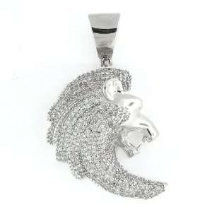 Mens & Womens Iced Out Hip Hop White Gold Plated Cubic Zircoina (CZ