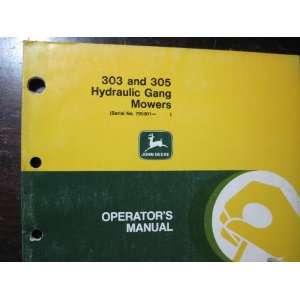 JOHN DEERE OPERATORS MANUAL 303 AND 305 HYDRAULIC GANG MOWERS