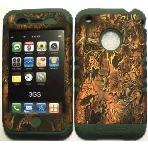 Camo Brown on Sage Silicone for Apple iPhone 3G 3GS Hybrid