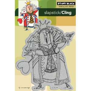 Penny Black Cling Rubber Stamp 4X6 Queen Of Hearts: Arts