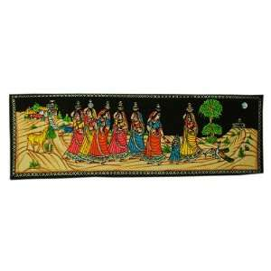 Pretty Seven Woman Wall Hanging: Home & Kitchen