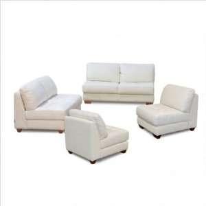 Diamond Sofa ZENSLCCW Zen Leather Tufted Seat Sofa and