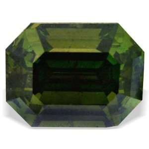 0.59 Ctw Pine Green Emerald Cut Loose Natural Diamond Jewelry
