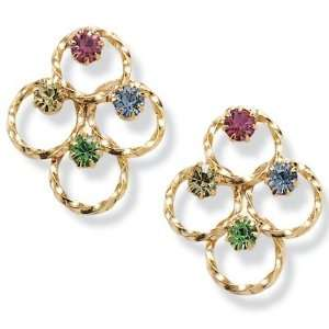 PalmBeach Jewelry Multi Color Crystal Earrings Jewelry