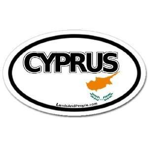 Cyprus Flag Car Bumper Sticker Decal Oval Automotive