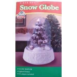 Fiber Optic Snow Globe ~ Yule Rite ~ Christmas Decor