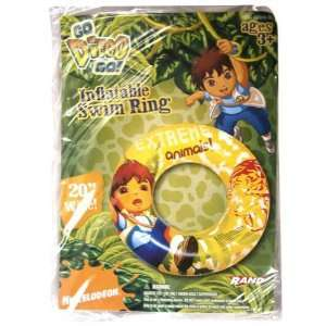 Go Diego Go Inflatable Swim Ring (20 Inch) Toys & Games