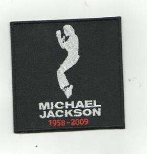 NEW MJ MICHAEL JACKSON TRIBUTE IRON ON PATCH BUY2GET3