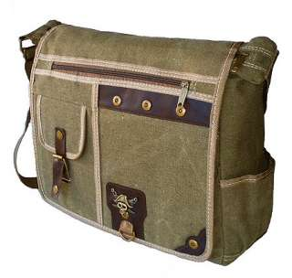 Military Inspired Canvas Crossbody Messenger Bag Laptop Case Backpack