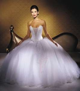 Gorgeous beading white empire line sleeveless wedding dress bridal