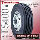 Firestone FS400 315 80r22.5 semi truck tires 315 80 22.5 tires semi