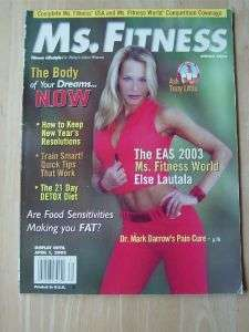 MS. FITNESS bodybuilding female muscle exercise figure/Else Lautala