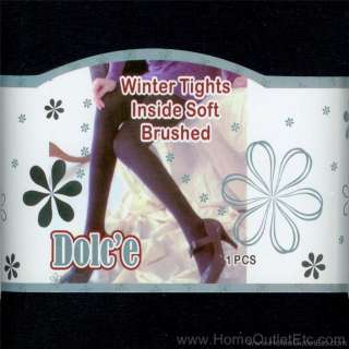 FLEECE LINED WINTER TIGHTS Warming Lining Warm Thick Stretch Footed