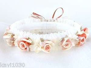 Girls Pink Rose Colored Flower Crown Headpiece Has Roses Weddings