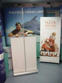 DOUBLE SIDED Retractable Banner Roll Up Stand Display