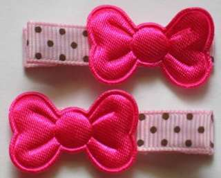 BABY GIRL ALLIGATOR HAIR CLIPS TINY BOW DRESS PARTY