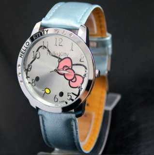 Lovely helloKitty 6 Crystal Girls Quartz Wrist Watch KT cat watches